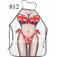 "Newest Novelty cooking kitchen apron 812 British flag bikini unisex adult DINNER PARTy Product 22""*28"""