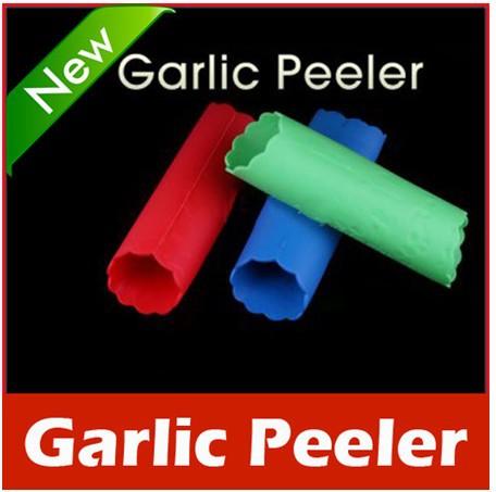 New Arrive: New Magic Silicone Garlic Peeler Peel Easy Kitchen Tool free shipping HZC035*1(China (Mainland))