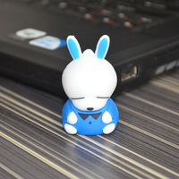 Hot sale usb flash drive memory usb 64gb cartoon rabbit ( blue/pink/green color)