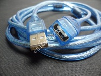 USB 2.0 extension cable 5M blue free shipping