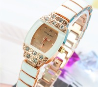 Fashion Classic Crystal Bracelet Watch Women Ladies Girls Beautiful Dress Quartz Wrist Watches White/Pink/Black Free