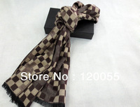 Fashion Winter Autumn Men Plaid Silk Handsome Scarf Thick Long Scarves Shawl Wom For Men New Arrival