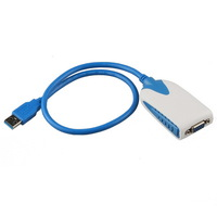USB 3.0 to VGA Video Graphic Card Multi-Display Cable Adapter for Win7 2000 XP Vista