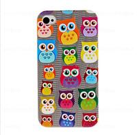 Wholesale Cute Owl Bird Retro Flag Sexy Lips Nice Cake Cover for iPhone 5 Samsung Galaxy s3/s4/s3 mini/s4 mini 200pcs/lot (OONS)