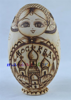 New 6pcs/set Wooden Russian Nesting Dolls Dried basswood Matryoshka Egg Doll