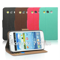 New Arrival Flip Leather Case Cover With Card Slot and Stand Holder For Samsung Galaxy Win i8552 Hot Selling 10pcs/lot