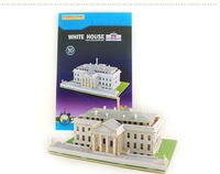 Free shipping the new stereo 3 d puzzle wooden building model of the White House, creative decoration,  DIY toy model
