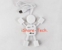 Usb usb splitter lilliputian splitter usb hub 2.0 usb hub Cute Robert Style for Ipad PDA Laptop