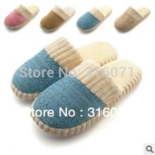 2013 unisex de moda otoño e invierno nueva populares hombres calientes& de algodón mujeres- acolchado amantes en casa zapatillas zapatos #zx8034- 1(China (Mainland))