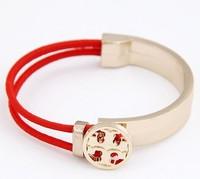 Free shipping Cross bracelet gold filled cool bracelet elastic sign bracelet  4color (min order 15)