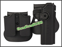 Airsoft IMI style Roto Holster for 1911 with Single stack pouch black free shipping