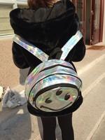 Unif 666 smiley laser circle HARAJUKU backpack school bag backpack freeshipping