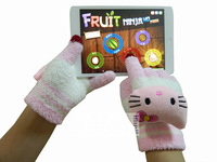50PCS DHL free shipping animals warm gloves cartoon gloves capacity screen gloves SD18