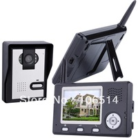 free shipping 3.5 inch 2.4Ghz wireless video door phone intercom system video doorphone