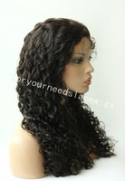 Malaysia Curly indian remy human hair full lace wigs /lace front wigs for afro american women with baby hair