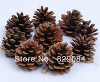Free shipping Christmas christmas tree decoration pinecone gold Pinecone pendant,Christmas pine cones 24pcs/lot