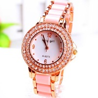 Promotion Sale High Quality Women's Wrist Watches Fashion Ladies Girls Bracelet Quartz Gift Watch Clock Free Shipping
