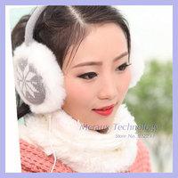 Knitted yarn winter warm music earmuffs thermal winter fashion earmuffs