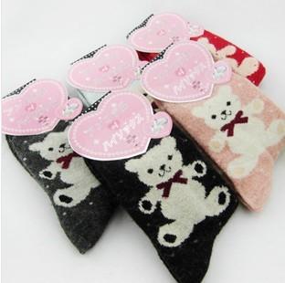 5pairs/много кролик мех шерсть blend носки