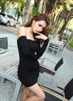 Black Coloful 2014 New Designer Women Hollow Bodycon Party Neon Dress Sexy Club Wear Backless Deep slash Neck Bandage Dresses