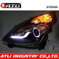 Free shipping Modified led head light for TEANA headlight assembly LED angel eyes