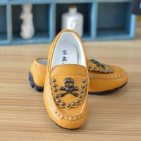 Male child skateboarding shoes 2013 child casual shoes child gommini loafers male child spring and autumn single shoes
