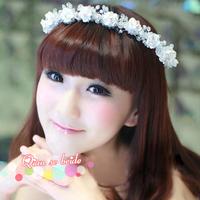 Free Shipping Fashion Crystal Handmade Flowers Rhinestone Bridal Frontlet Hairband Wedding Hair Jewelry