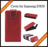 Free shipping --New high quality fengma leather case mobilephone cellphone for  Samsung S5830