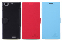 Original NILLKIN Leather Case for Lenovo K900, colorful Colors - black, blue, red, Free Shipping