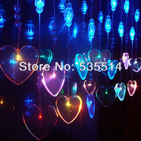 LED Heart-shaped Crystal beads Window Lights Seasonal Christmas holiday Decor