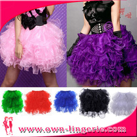 Free Shipping Colorful Puff Lady Short Skirt