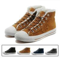 Hot! Star Classic anti fur winter add wool Warm Shoes high men/women sneaker