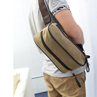 Bag male the broadened shoulder strap thickening male small bag canvas bag canvas chest pack male