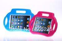 Radio Shapped Colorful Kids Proof Thick Foam EVA Case Handle for Apple iPad Mini 2 mini retina USA Epack free shipping