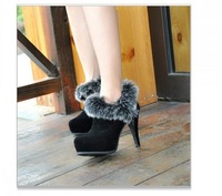2013 winter new European and American retro sleeve high stiletto boots waterproof Taiwan female boots xx378