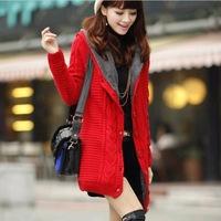 New Fashion knitting MY-003 2013 winter thickening sweater women leisure tops tees over coat wholesale and retail FREE SHIPPING