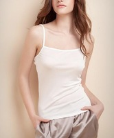 Free shipping Women's summer small vest modal cotton casual white Women elastic slim basic small vest