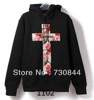 2013 Men's supreme hoodies.Brand cotton hooded coats.Hip hop coats.fashion pullover coats.2 colors