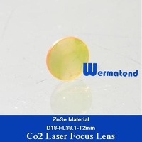 Free Shipping Co2 laser focus lens diameter 18mm focal length 38.1mm USA ZnSe material
