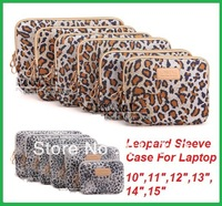 New Fashion Leopard Laptop Sleeve Case 10,11,12,13,14,15 inch Computer Bag, Notebook,For ipad,Tablet, For MacBook,Free Shipping.
