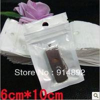 free  shipping Wholesale 6 * 10cm translucent ziplock/  zipper top