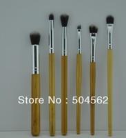 Pro. Makeup Brush 6 pcs Bamboo natural Brush Set eye brush kit eye set brand NEW