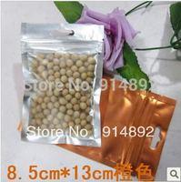 free  shipping Wholesale 8.5*13cm translucent ziplock/ food  bags
