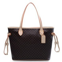 2013 new arrival womens handbag fashion female shoulder bag brand disign coffee/beige bags all match free shipping