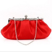 2013 red evening bag silks and satins bag women's handbag  bridal / bridesmaid bag