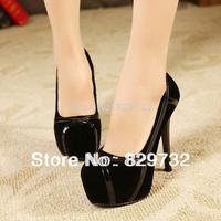 Free shipping 2014 autumn women pumps high-heeled shoes princess platform thin heels round toe single shoes