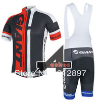 New Style 2014 Giant Team Maillot Cycling Jersey Short Sleeve and (Bib) Shorts Cycling Clothing Compression Sports Wear