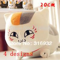 J1 Free shipping 20cm Natsume Yuujinchou Nyanko Sensei cat plush anime doll toy, 4 designs can be chosen