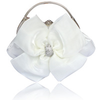 Four flower diamond sweet silk small bag wedding bag evening bag women's bags metal handle