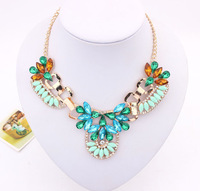 Min.Order $15 (Mix Wholesale) Factory Outlet Jewelry, Europe Vintage Elegant Flower Style Women Alloy Necklaces,3 Colors,N499